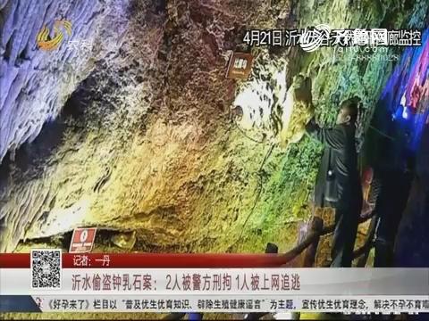 沂水偷盗钟乳石案:2人被警方刑拘 1人被上网追逃
