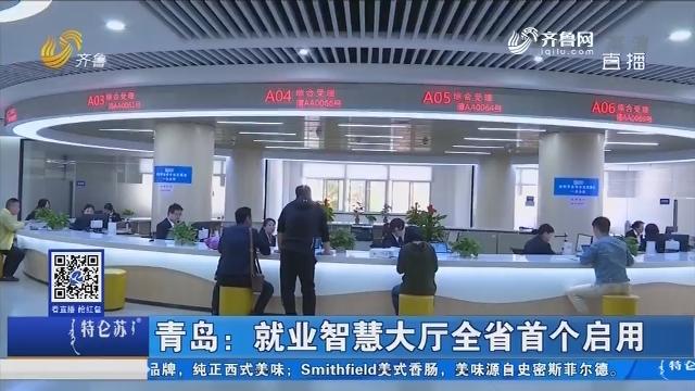 青岛:就业智慧大厅全省首个启用