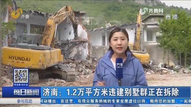 济南:1.2万平方米违建别墅群正在拆除