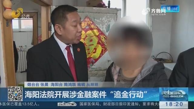 """海阳法院开展涉金融案件""""追金行动"""""""