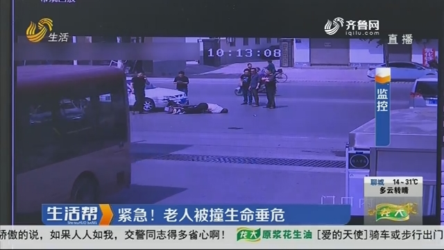 淄博:紧急!老人被撞生命垂危