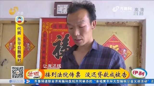 东平:接到法院传票 没还贷款成被告