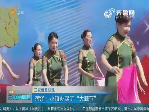 """【三农信息快递】菏泽:小镇办起了""""大蒜节"""""""