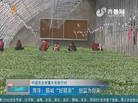 """【中国农业创富大会进行时】菏泽:郓城""""好郓来""""创富为你来"""