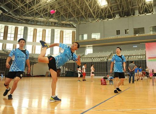 济南市第九届全民健身运动会毽球比赛开幕