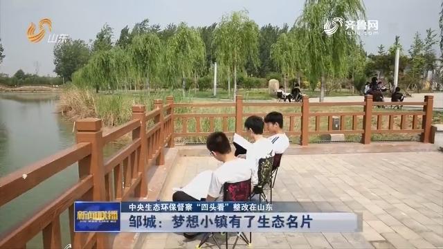 """【中央生态环保督察""""回头看""""整改在山东】邹城:梦想小镇有了生态名片"""