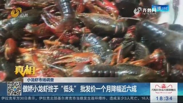 """【真相】小龙虾市场调查:傲娇小龙虾终于""""低头"""" 批发价一个月降幅近六成"""
