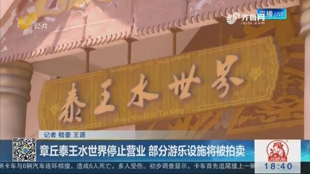 章丘泰王水世界停止营业 部分游乐设施将被拍卖