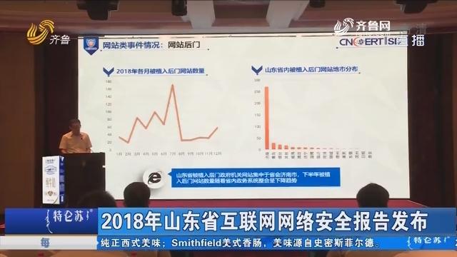 2018年山东省互联网网络安全报告发布