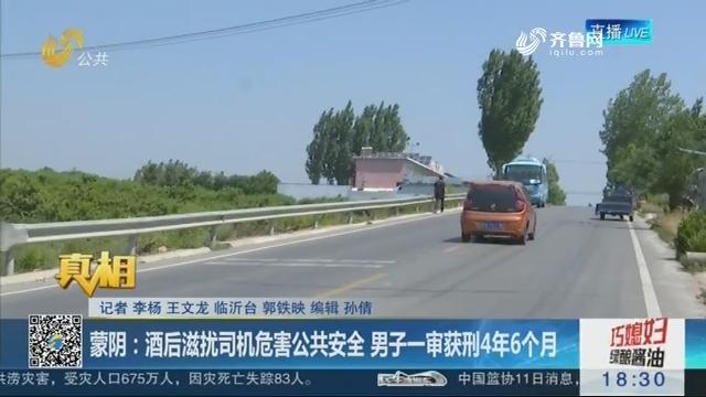 【真相】蒙阴:酒后滋扰司机危害公共安全 男子一审获刑4年6个月