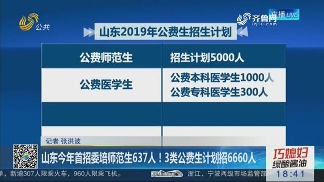 山东2019年首招委培师范生637人!3类公费生计划招6660人