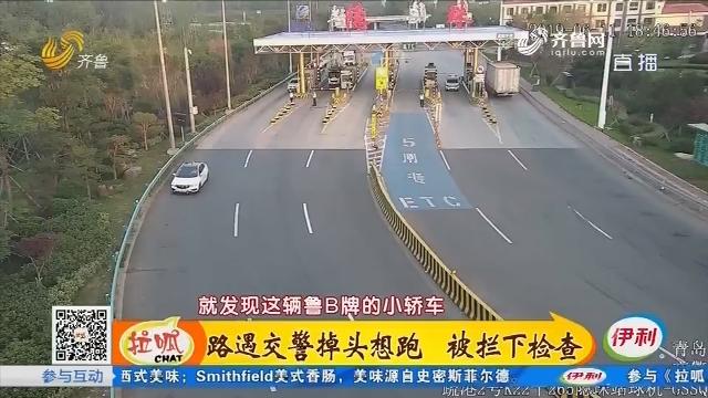 青岛:路遇交警掉头想跑 被拦下检查