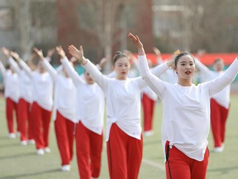 山东省全民健身运动会大众广场健身操比赛龙口举行