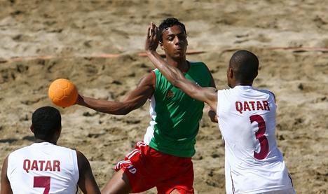 第七届亚洲沙滩手球锦标赛在威海南海新区开赛