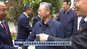 山東省黨政代表團在西藏調研對口支援工作