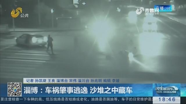 淄博:车祸肇事逃逸 沙堆之中藏车