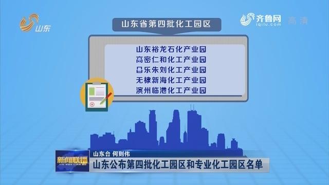 山东公布第四批化工园区和专业化工园区名单