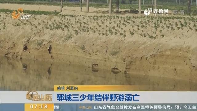 【闪电新闻排行榜】郓城三少年结伴野游溺亡