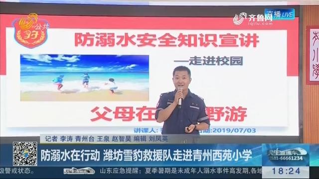 防溺水在行动 潍坊雪豹救援队走进青州西苑小学