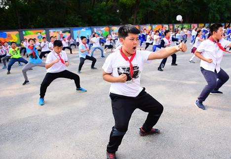 滕州学校增设武术课程 传承中华武术文化