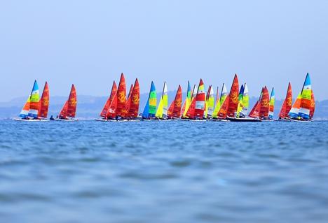 2019中国威海HOBIE帆船亚洲锦标赛开赛