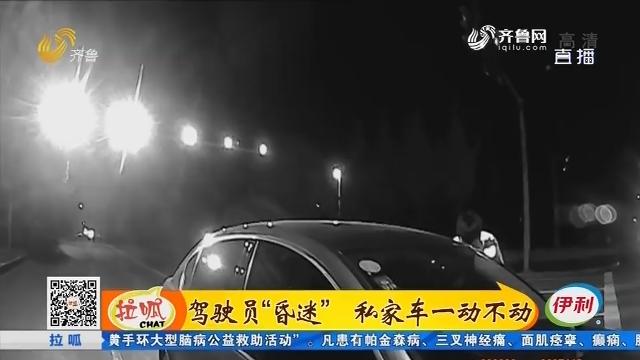 """淄博:驾驶员""""昏迷"""" 私家车一动不动"""