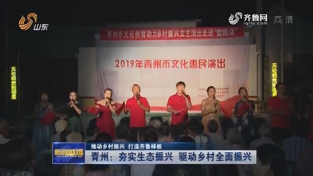 【推动乡村振兴 打造齐鲁样板】青州:夯实生态振兴 驱动乡村全面振兴