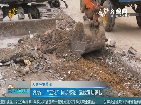 """【人居环境整治】潍坊:""""五化""""同步整治 建设宜居家园"""