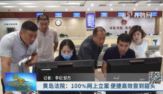 《法院在线》07-20播出《黄岛区法院:100%网上立案 便捷高效尝到甜头》