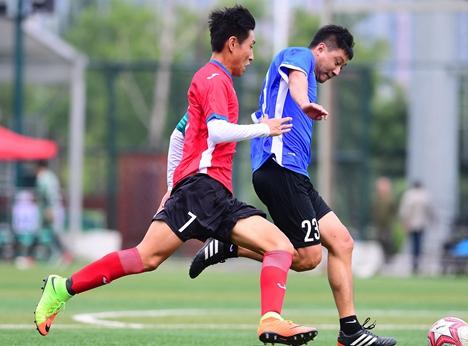 平阴县第九届全民健身运动会七人制足球比赛开赛