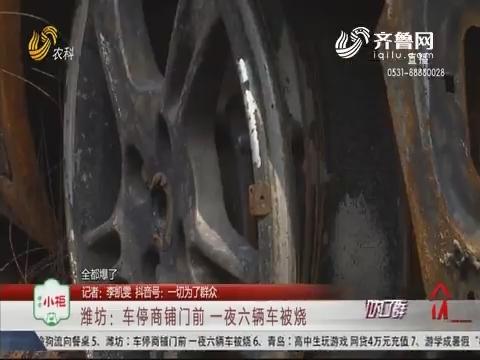 潍坊:车停商铺门前 一夜六辆车被烧