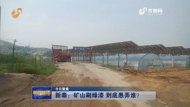 【今日聚焦】新泰:矿山刷绿漆 到底愚弄谁?