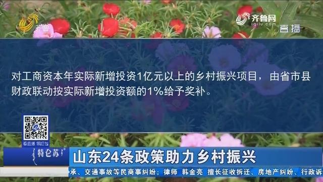 山东24条政策助力乡村振兴