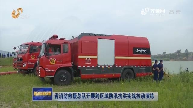 省消防救援总队开展跨区域防汛抗洪实战拉动演练