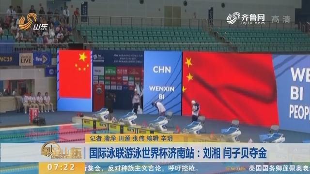 国际泳联游泳世界杯济南站:刘湘 闫子贝夺金