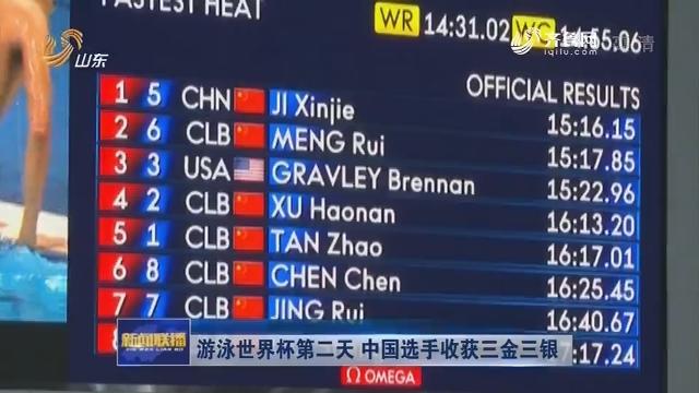 游泳世界杯第二天 中国选手收获三金三银