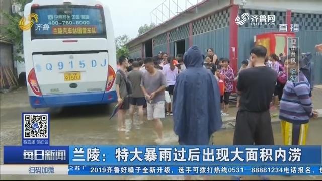 【迎击台风】兰陵:特大暴雨过后出现大面积内涝