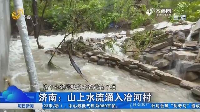 济南:山上水流涌入冶河村