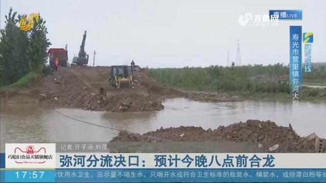 【闪电连线】寿光:弥河分流决口 预计8月13日晚八点前合龙