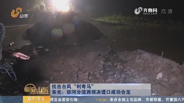 """【抗击台风""""利奇马""""】寿光:弥河分流西坝决堤口成功合龙"""