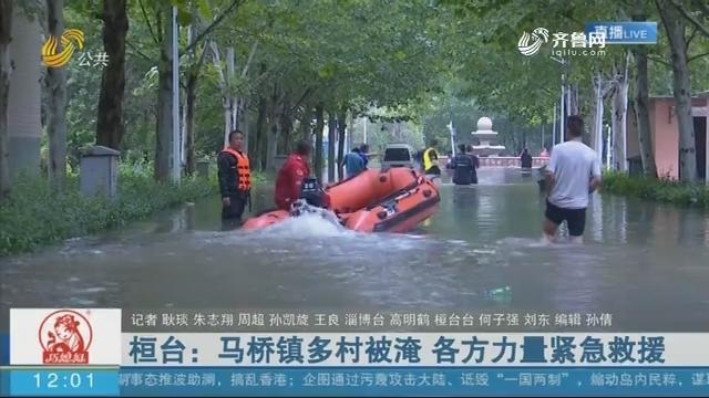 桓台:马桥镇多村被淹 各方力量紧急救援