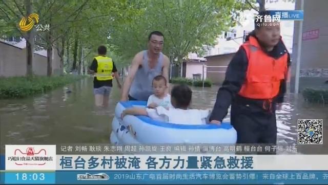 桓台多村被淹 各方力量紧急救援