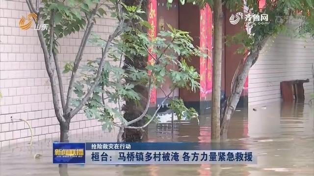 【抢险救灾在行动】桓台:马桥镇多村被淹 各方力量紧急救援
