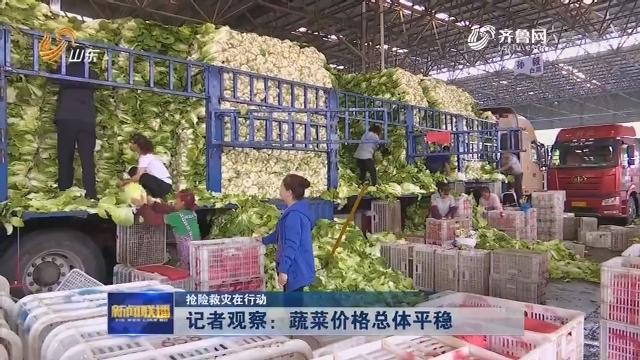 【抢险救灾在行动】记者观察:蔬菜价格总体平稳