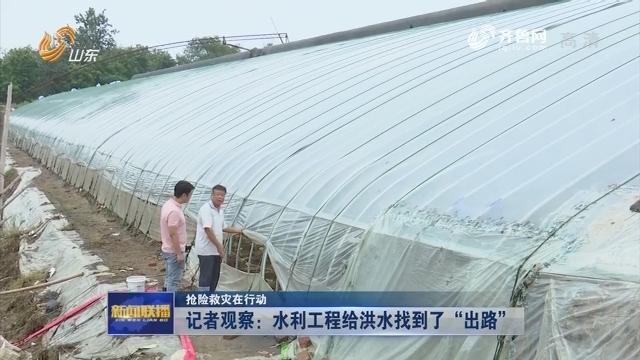 """【抢险救灾在行动】记者观察:水利工程给洪水找到了""""出路"""""""