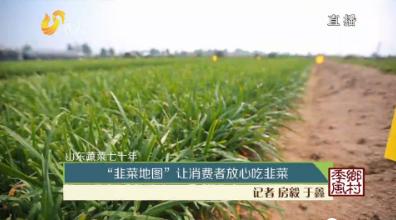 """山东蔬菜七十年 """"韭菜地图""""让消费者放心吃韭菜"""