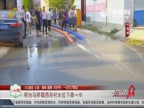 【4G连线】桓台马桥镇西孙村水位下降一半