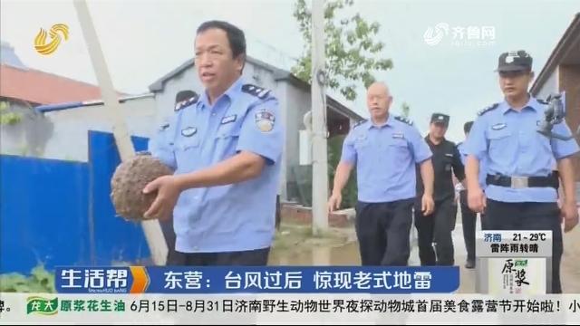 东营:台风过后 惊现老式地雷