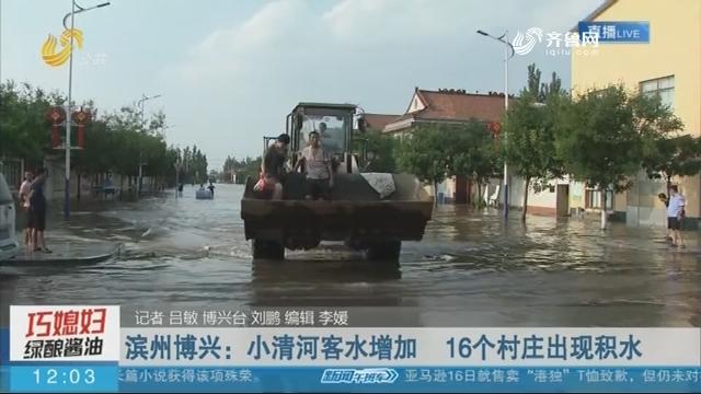 【抢险救灾在行动】滨州博兴:小清河客水增加 16个村庄出现积水