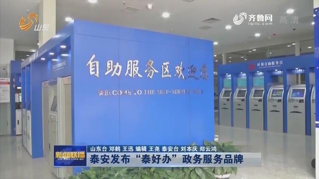 """泰安发布""""泰好办""""政务服务品牌"""